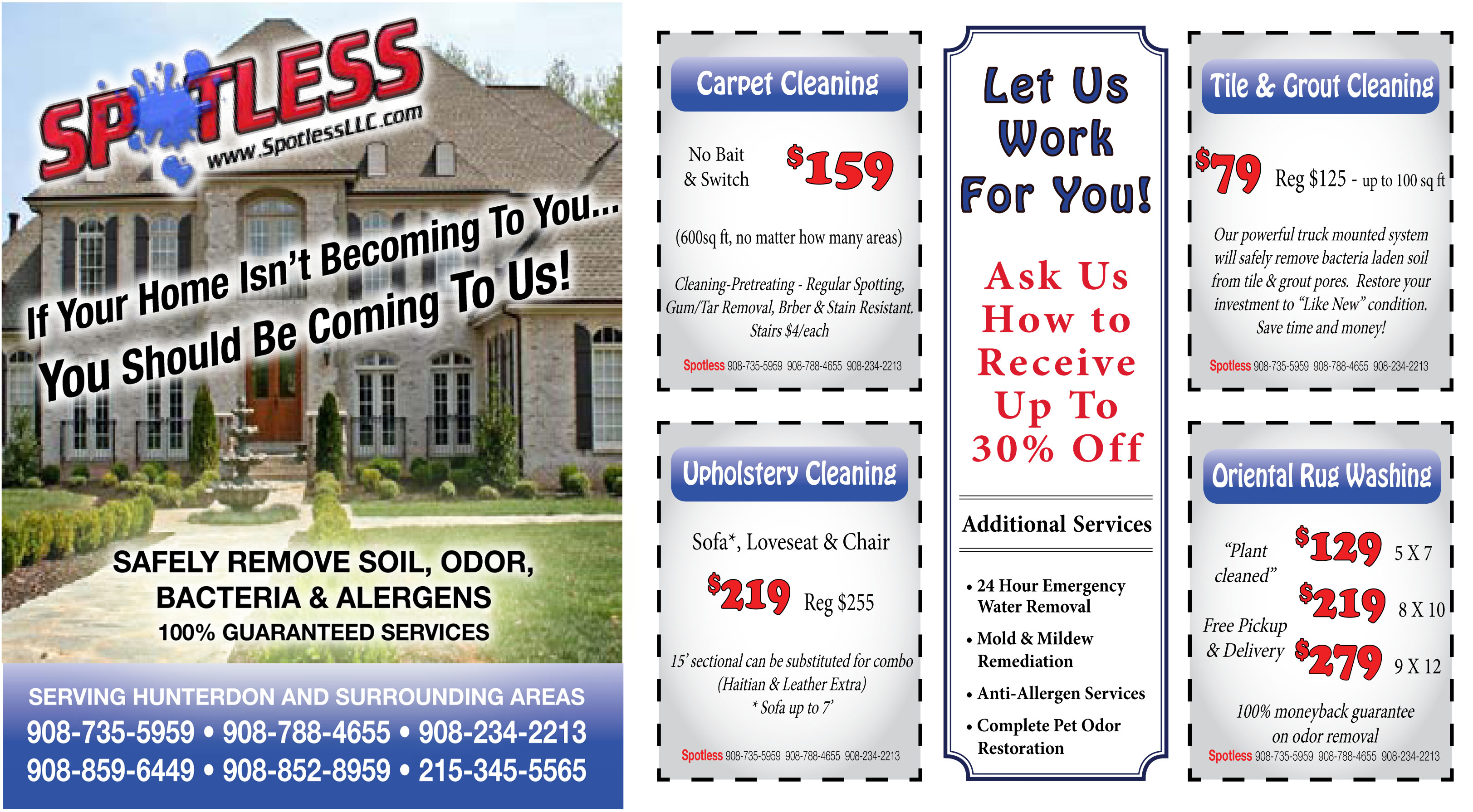 Spotless cleaning and service coupons